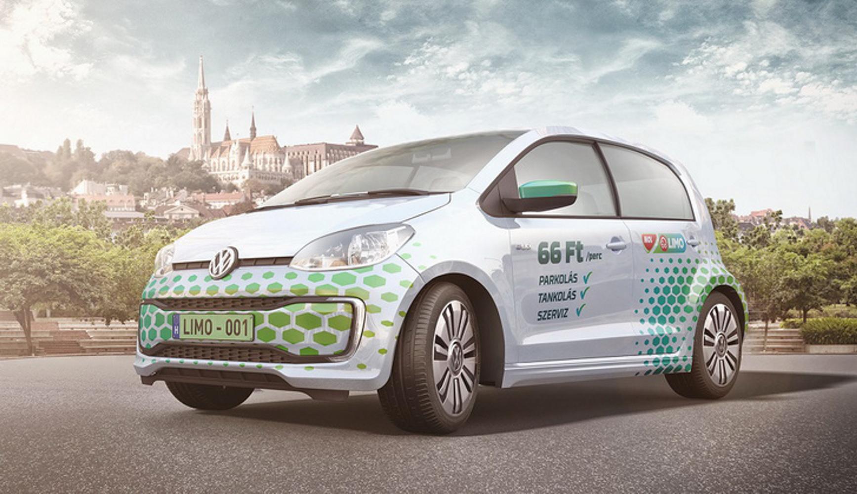 300 Volkswagen up!-al elindult a MOL Limo szolgáltatása Budapesten