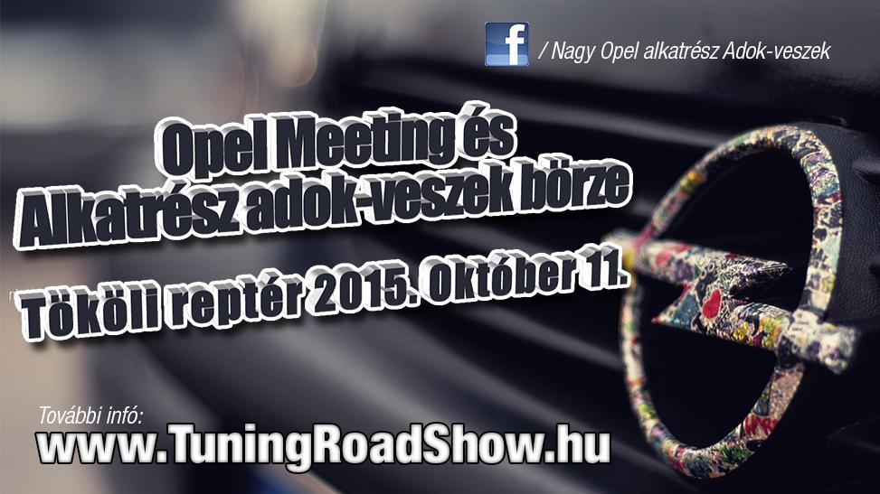 Évvégi Opel találkozó és Adok-veszek börze a TRS-en Tökölön!